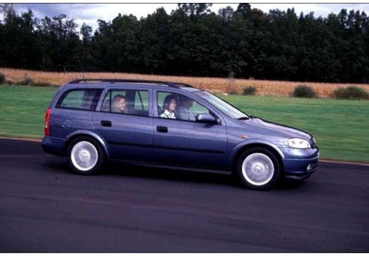 OPEL Astra II Classic kombi niebieski jasny boczny prawy