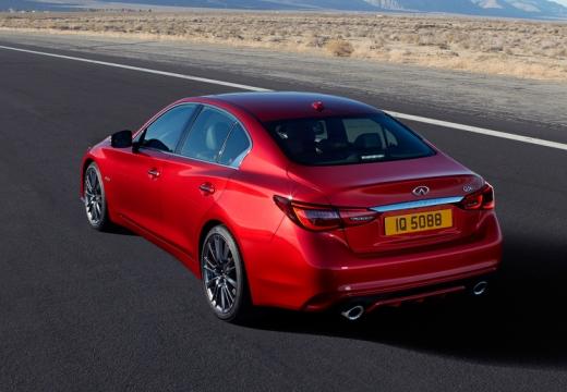 INFINITI Q50 sedan czerwony jasny górny tylny