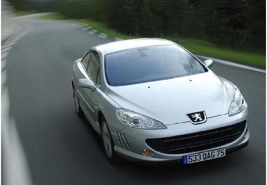 PEUGEOT 407 coupe silver grey przedni prawy
