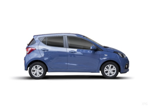 HYUNDAI i10 III hatchback niebieski jasny boczny prawy