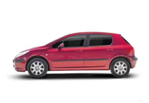 PEUGEOT 307 II hatchback boczny lewy