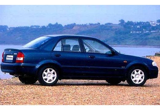 MAZDA 323 sedan niebieski jasny tylny prawy