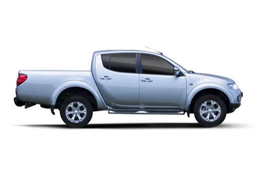 MITSUBISHI L 200 L200 pickup niebieski jasny boczny prawy