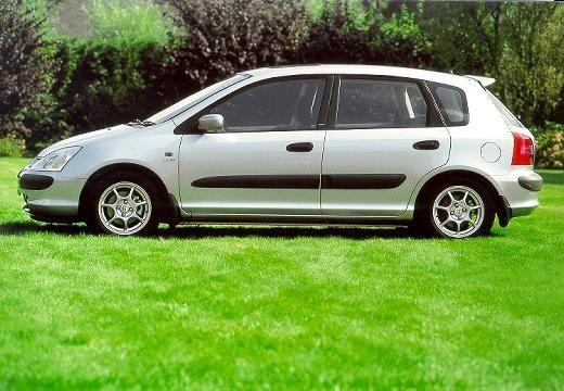 HONDA Civic IV hatchback silver grey boczny lewy