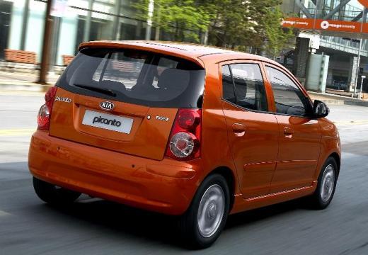 KIA Picanto II hatchback pomarańczowy tylny prawy