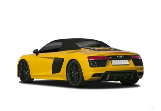 AUDI R8 roadster żółty tylny lewy