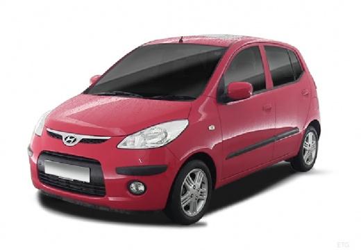 HYUNDAI i10 I hatchback czerwony jasny