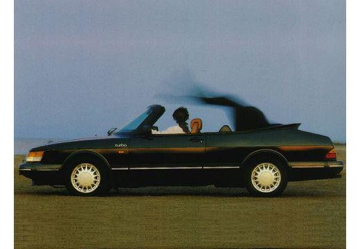 SAAB 900 kabriolet czarny boczny lewy
