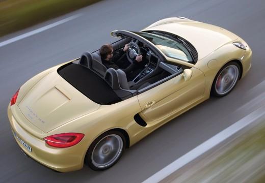 PORSCHE Boxster 981 roadster żółty tylny prawy