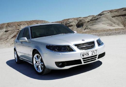SAAB 9-5 sedan silver grey przedni prawy