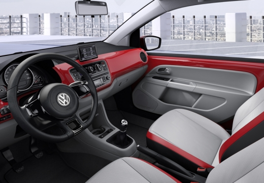 VOLKSWAGEN up I hatchback czerwony jasny wnętrze