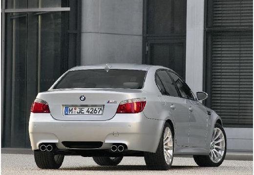 BMW Seria 5 E60 II sedan silver grey tylny prawy