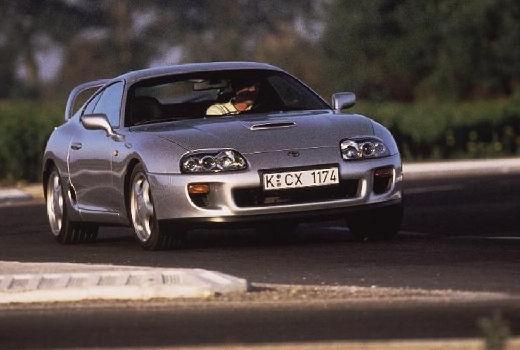 Toyota Supra coupe silver grey przedni prawy