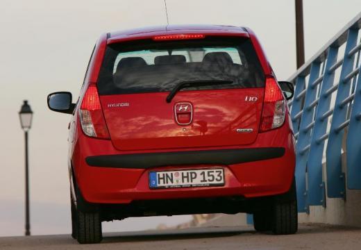 HYUNDAI i10 I hatchback czerwony jasny tylny