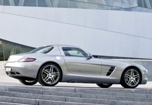 MERCEDES-BENZ SLS coupe silver grey tylny prawy