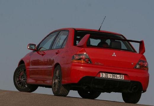MITSUBISHI Lancer V sedan czerwony jasny tylny lewy