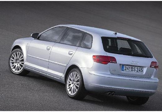 AUDI A3 Sportback I hatchback silver grey tylny lewy
