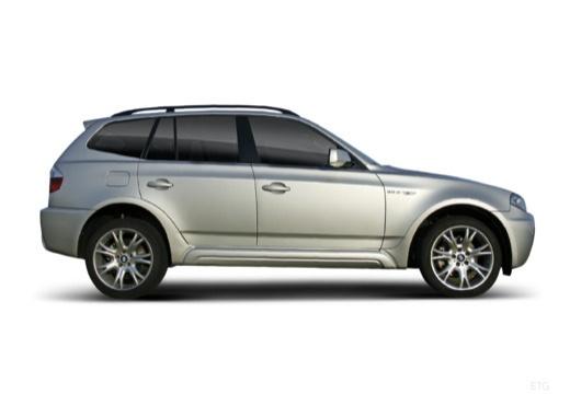 BMW X3 X 3 E83 II kombi silver grey boczny prawy