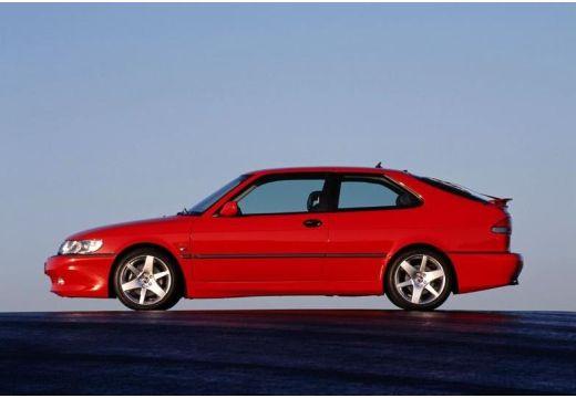 SAAB 9-3 I hatchback czerwony jasny boczny lewy