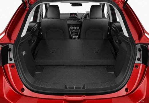 MAZDA 2 IV hatchback czerwony jasny przestrzeń załadunkowa