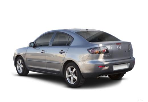 MAZDA 3 I sedan silver grey tylny lewy
