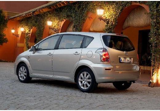 Toyota Corolla Verso II kombi mpv silver grey tylny lewy
