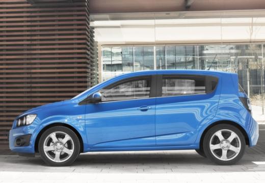 CHEVROLET Aveo III hatchback niebieski jasny boczny lewy