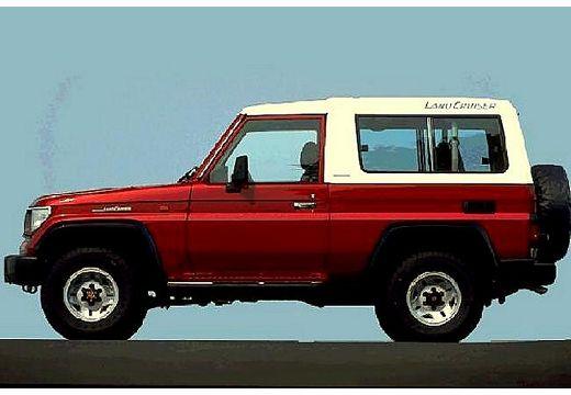 Toyota Land Cruiser kombi bordeaux (czerwony ciemny) boczny lewy