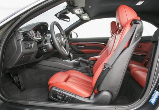 BMW Seria 4 Cabrio F33 kabriolet wnętrze