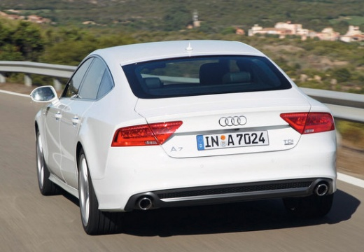 AUDI A7 Sportback I hatchback biały tylny lewy
