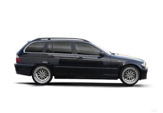 BMW Seria 3 Touring E46/3 kombi czarny boczny prawy
