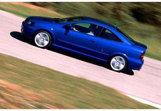 OPEL Astra II Bertone coupe niebieski jasny boczny lewy