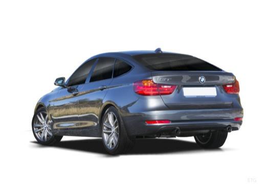 BMW Seria 3 Gran Turismo F34 I hatchback szary ciemny tylny lewy