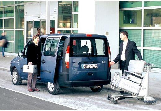 FIAT Doblo II kombi niebieski jasny tylny lewy