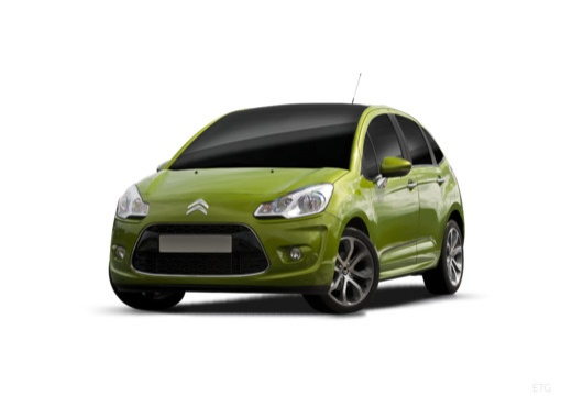 CITROEN C3 II I hatchback zielony