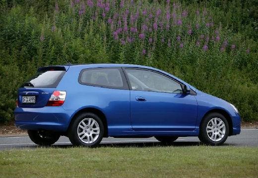 HONDA Civic V hatchback niebieski jasny tylny prawy