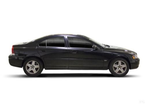 VOLVO S60 II sedan czarny boczny prawy