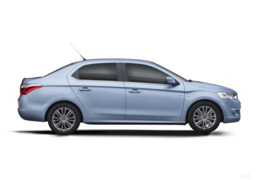 CITROEN C-Elysee sedan niebieski jasny boczny prawy