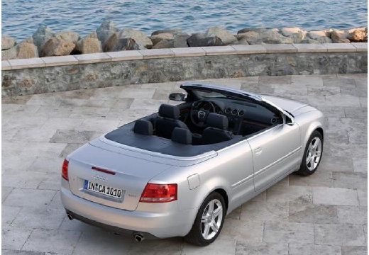 AUDI A4 kabriolet silver grey tylny prawy