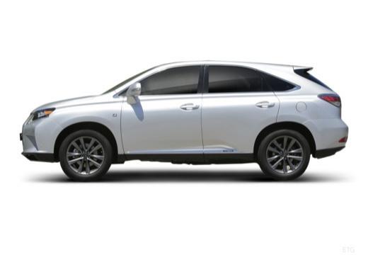 LEXUS RX III kombi biały boczny lewy