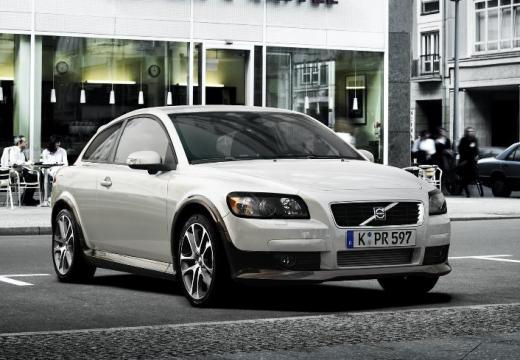 VOLVO C30 I hatchback biały przedni prawy