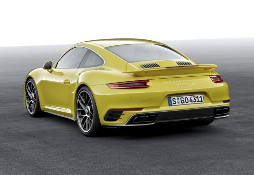 PORSCHE 911 991 II coupe żółty tylny lewy
