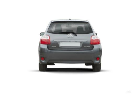 Toyota Auris II hatchback szary ciemny tylny