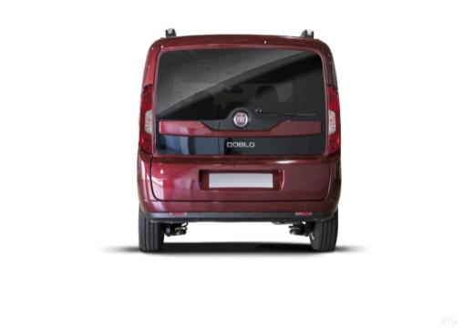 FIAT Doblo kombi bordeaux (czerwony ciemny) tylny