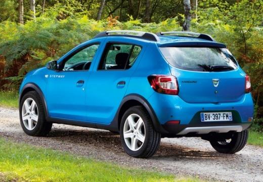 DACIA Sandero II hatchback niebieski jasny tylny lewy