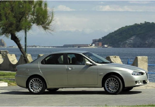 ALFA ROMEO 156 sedan silver grey przedni prawy
