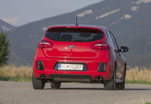 KIA Ceed IV hatchback czerwony jasny tylny