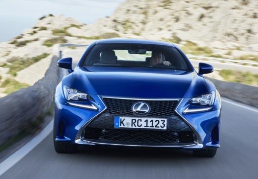 LEXUS RC coupe niebieski jasny przedni