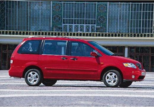 MAZDA MPV II van czerwony jasny boczny prawy