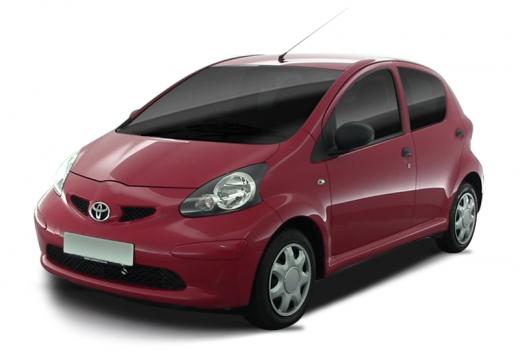 Toyota Aygo I hatchback czerwony jasny